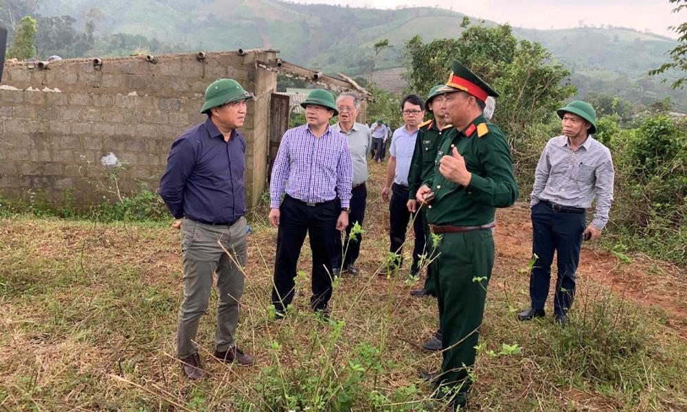 Đoàn công tác Bộ Xây dựng kiểm tra công tác phòng chống, khắc phục hậu quả thiên tai tại các tỉnh miền Trung