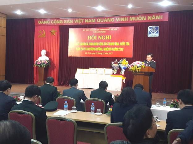 Hà Nội: Tổng kết đánh giá tình hình công tác thanh tra, kiểm tra năm 2017 và phương hướng nhiệm vụ năm 2018