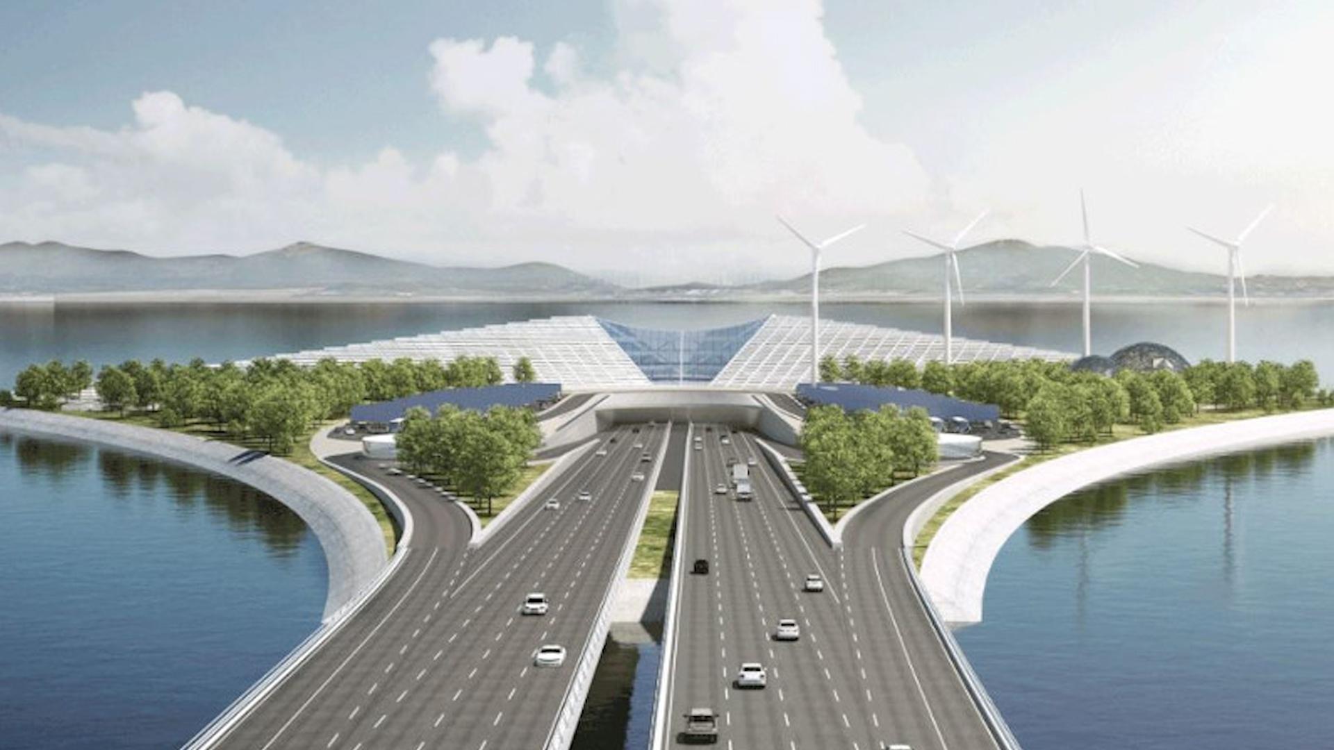 Siêu dự án cầu vượt biển với 8 làn đường của Trung Quốc