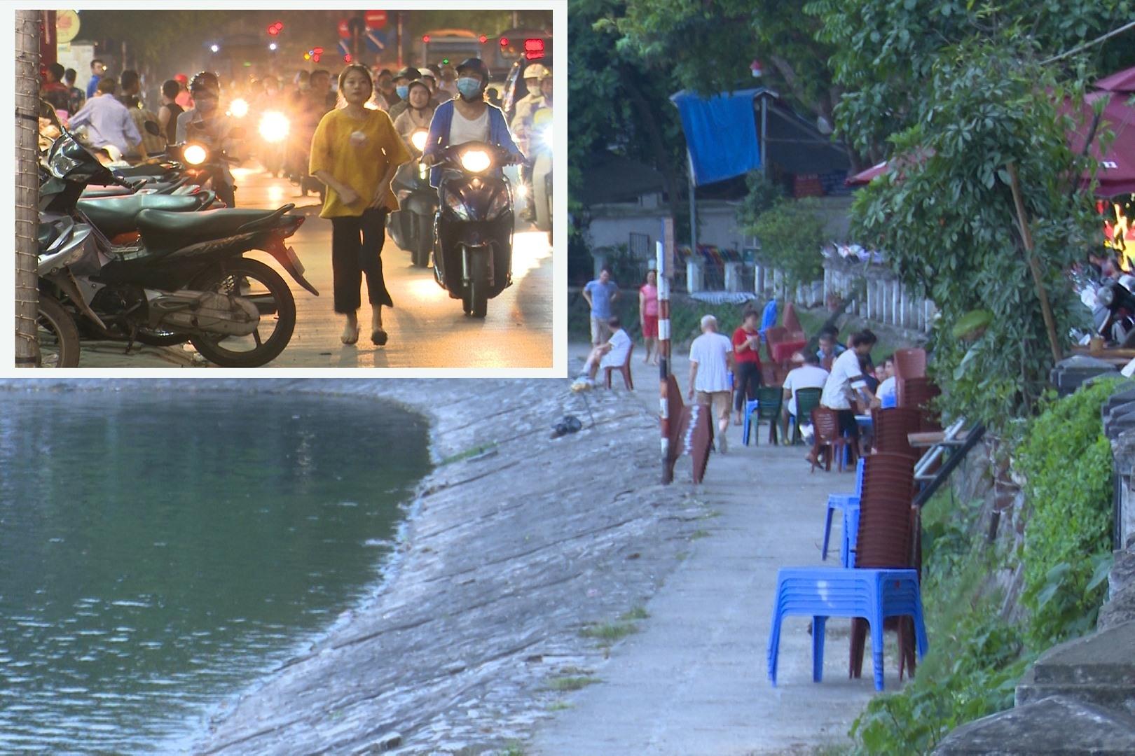 Hà Nội: Quán nhậu tái chiếm vỉa hè, vệ hồ tràn lan bàn ghế cho khách nhậu