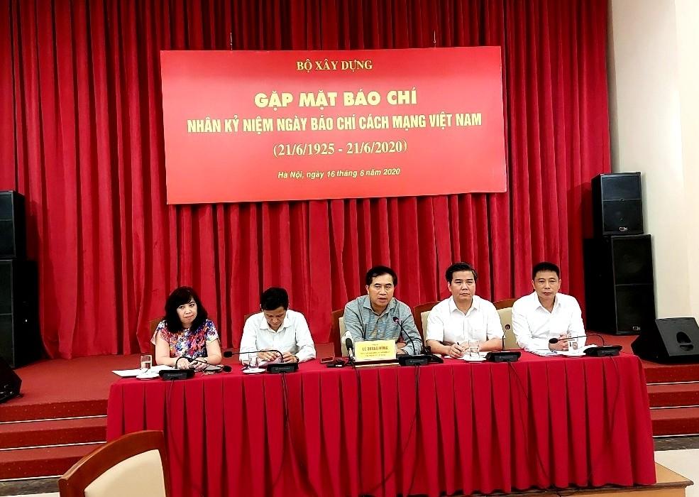 Bộ Xây dựng gặp mặt các cơ quan báo chí nhân kỷ niệm 95 năm Ngày Báo chí cách mạng Việt Nam