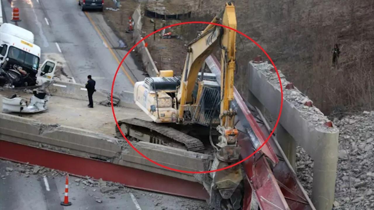 Tòa nhà đột ngột bị sập khiến tài xế lái máy xúc thiệt mạng
