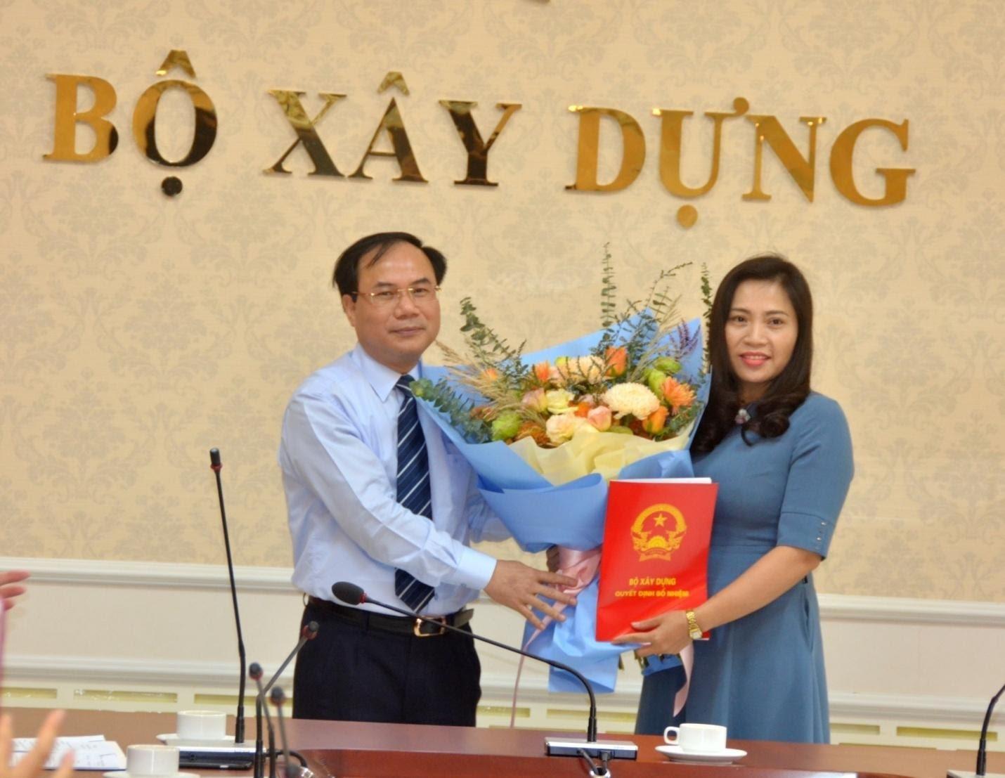Bộ Xây dựng bổ nhiệm hai Phó Chánh Văn phòng