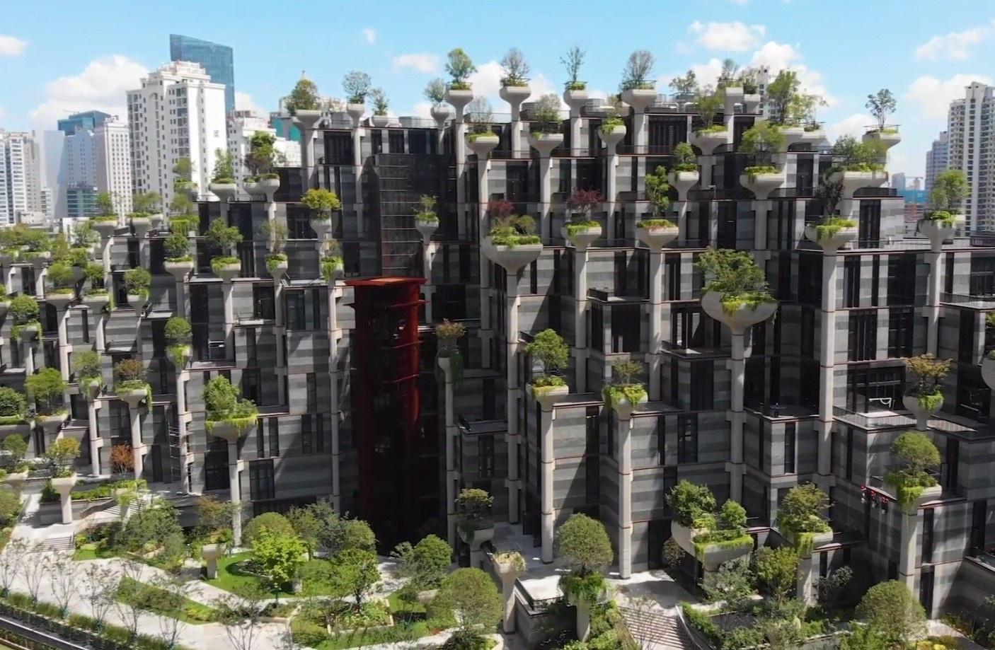 Tòa nhà có kiến trúc bậc thang độc đáo ở Thượng Hải