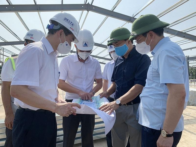 Tổ công tác đặc biệt của Bộ Xây dựng: Khảo sát việc triển khai xây dựng bệnh viện dã chiến và khu cách ly tập trung trên địa bàn Hà Nội