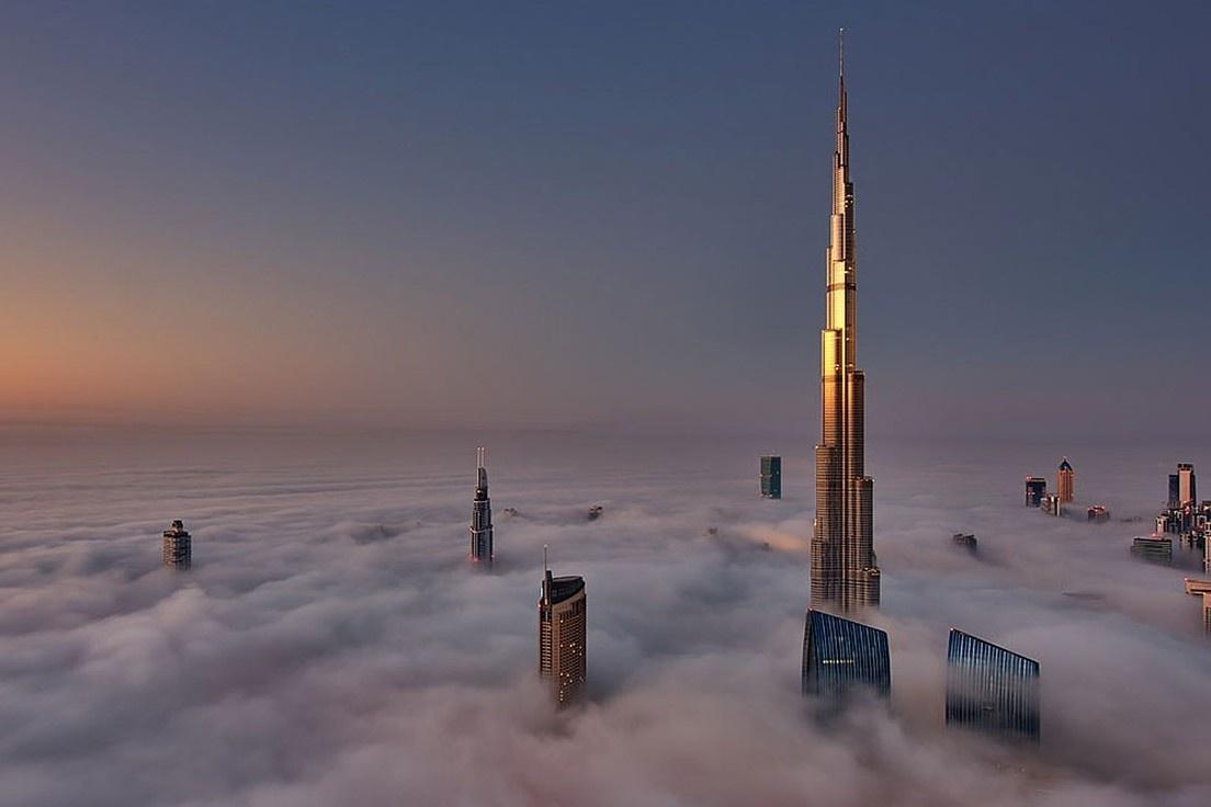Tòa nhà cao nhất thế giới nhìn từ flycam
