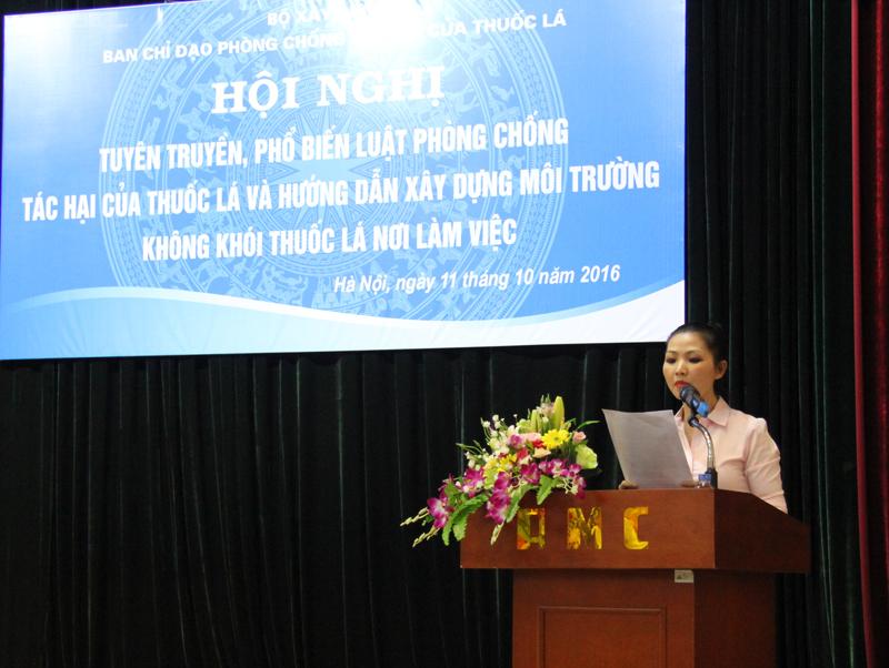Bộ Xây dựng tăng cường tuyên truyền, phổ biến Luật Phòng chống tác hại của thuốc lá