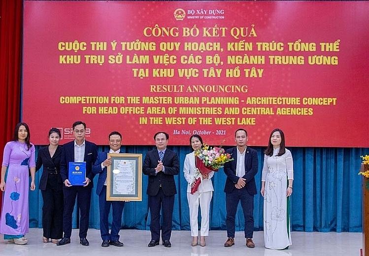 Bộ Xây dựng trao giải Cuộc thi Ý tưởng quy hoạch, kiến trúc tổng thể khu trụ sở làm việc các Bộ ngành Trung ương tại khu vực Tây Hồ Tây