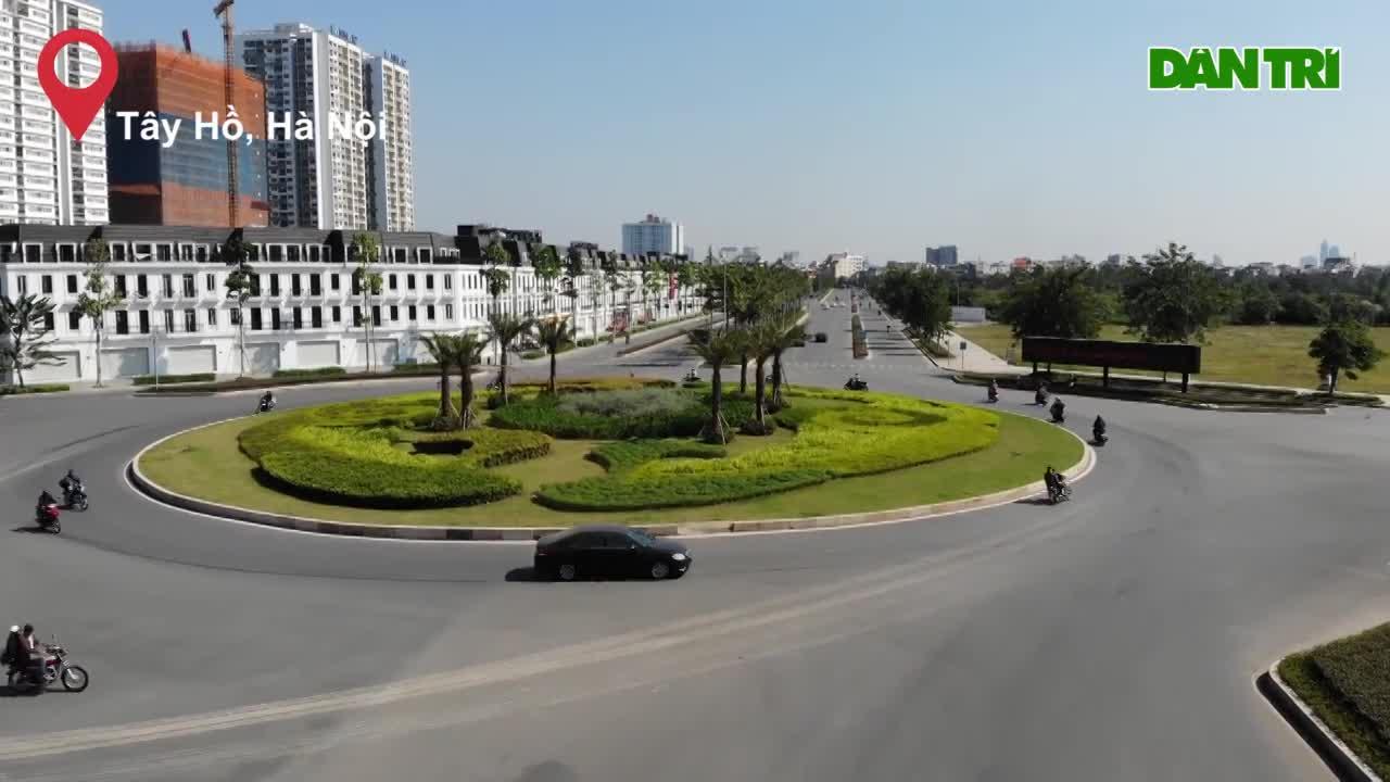 Ngắm tuyến đường 10 làn xe chưa được đặt tên tại thủ đô