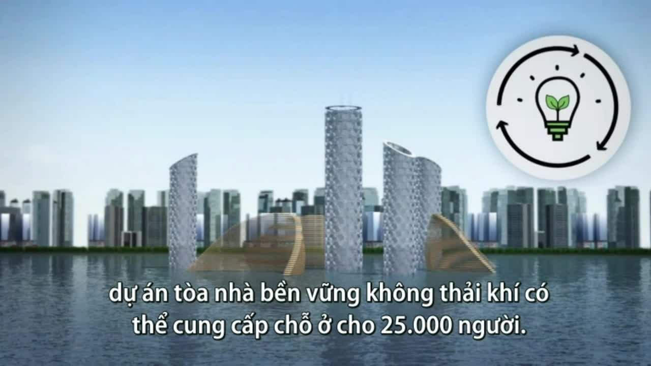 Tòa nhà thẳng đứng dưới đáy biển sức chứa 25.000 người