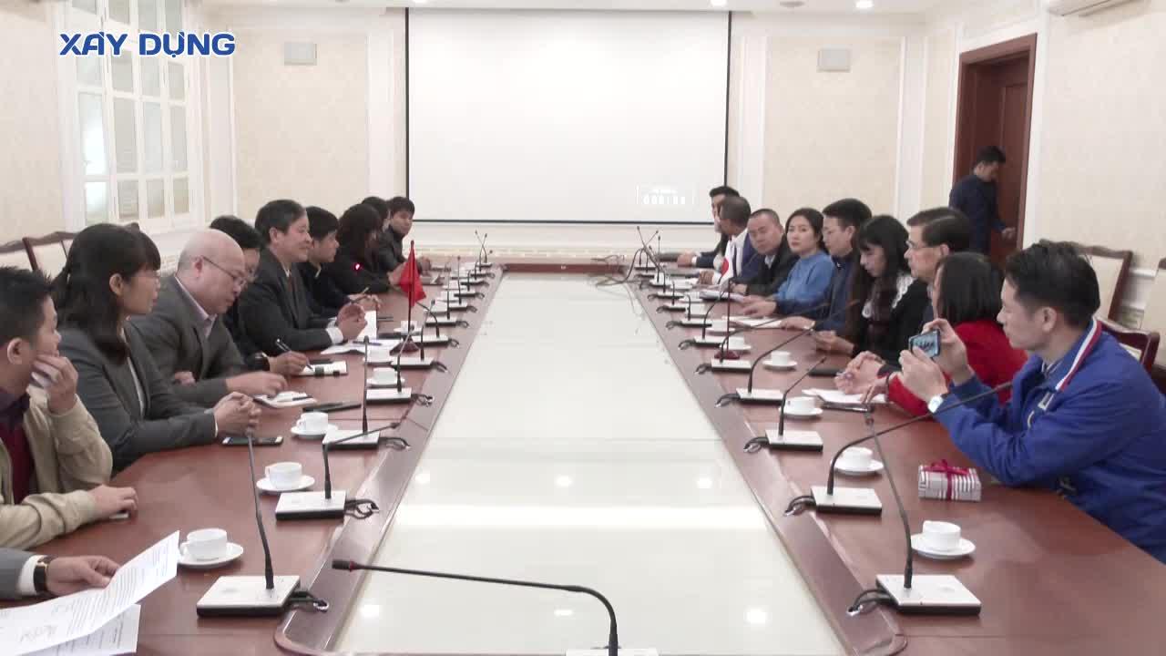 Tổng Biên tập Báo Xây dựng tiếp Chủ tịch Hiệp hội sáng kiến Nhật Bản