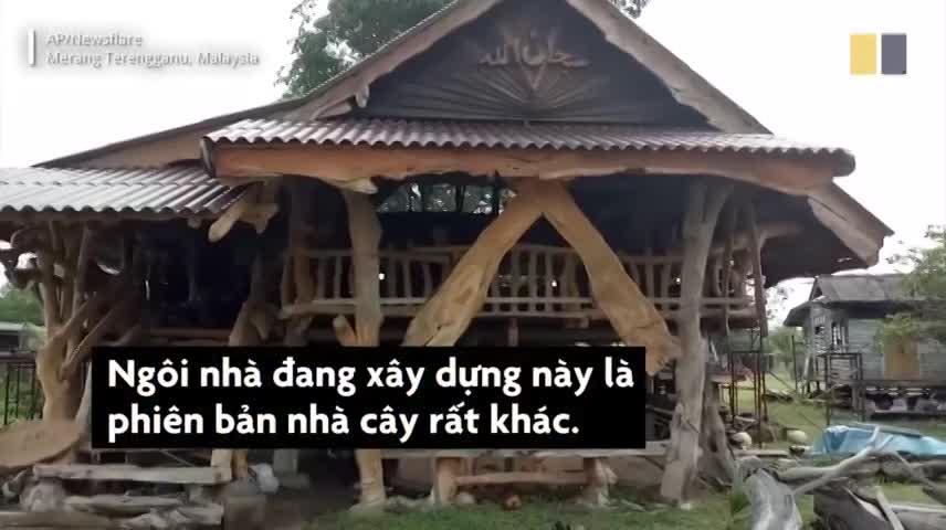 Ngôi nhà cây độc đáo của nhà thơ Malaysia