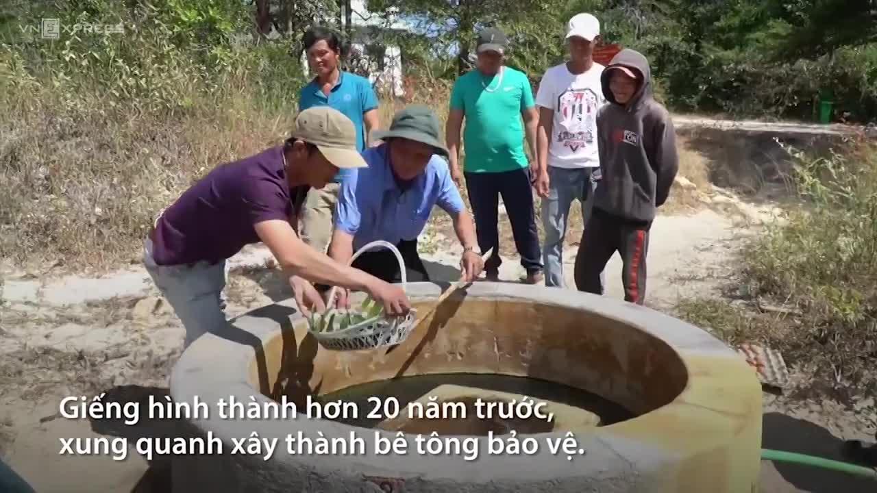 Giếng nước nóng 85 độ C trong rừng Tà Cú