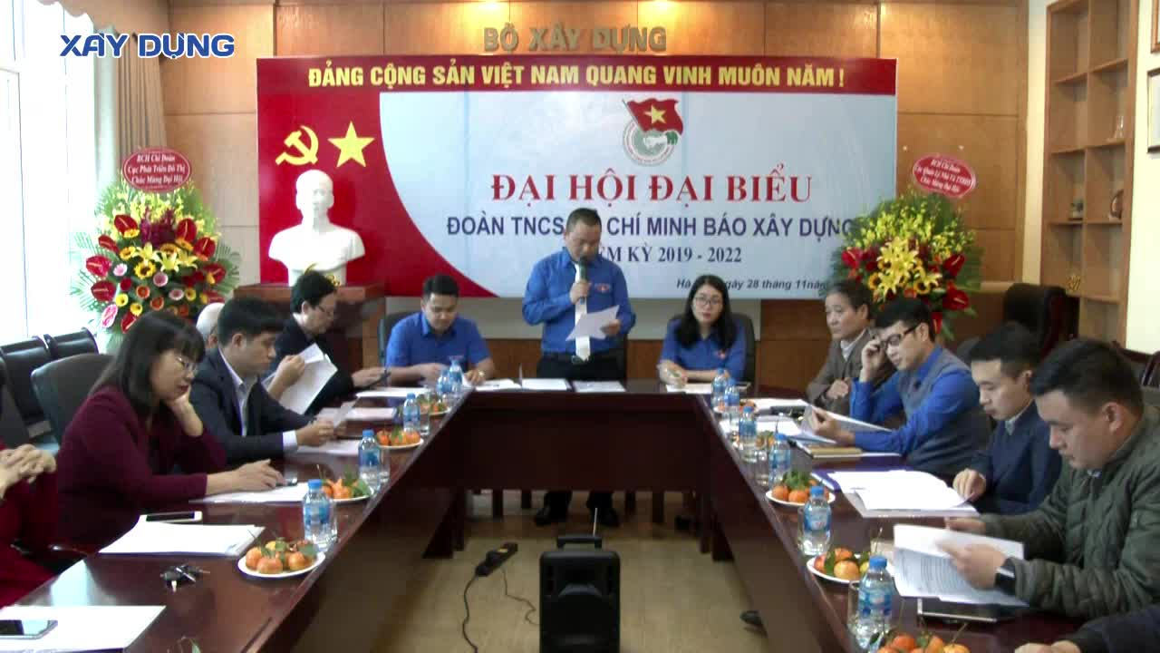 Tổ chức thành công Đại hội Chi đoàn Báo Xây dựng nhiệm kỳ 2019 - 2022