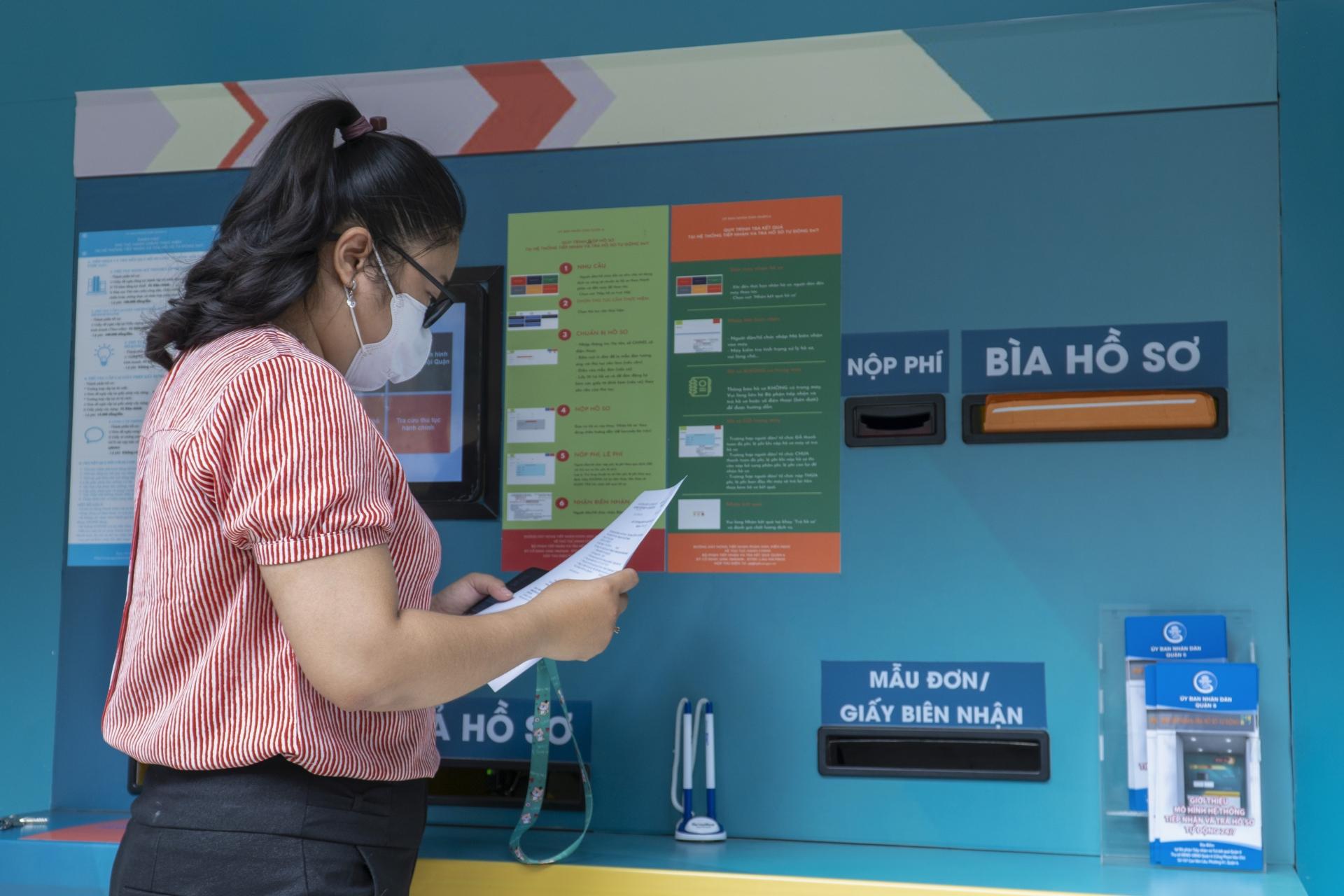 'ATM' nhận trả hồ sơ tự động 24/7 tại TP.HCM