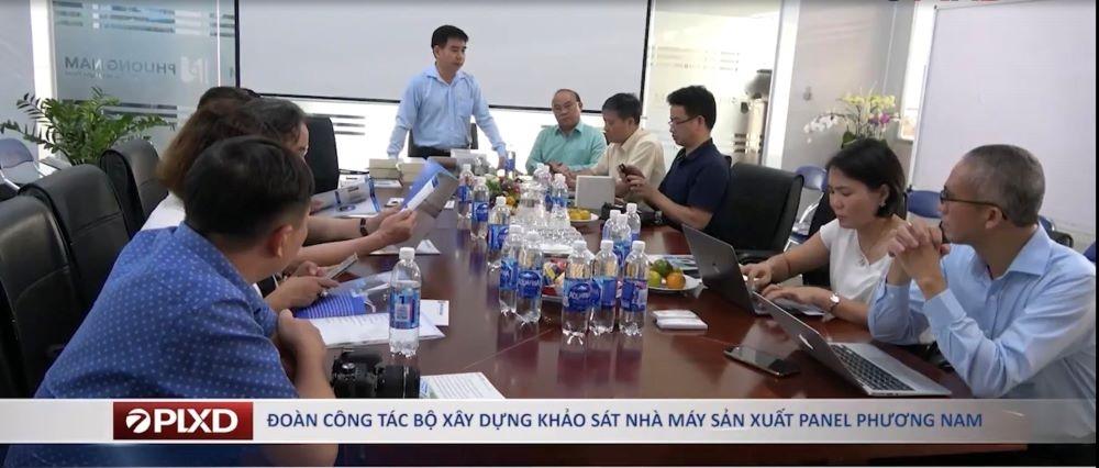 Đoàn Công tác Bộ Xây dựng khảo sát Nhà máy sản xuấtPanel Phương Nam