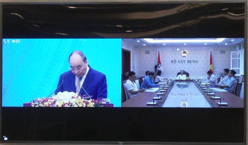Bộ Xây dựng tham dự trực tuyến Hội nghị Thủ tướng với doanh nghiệp