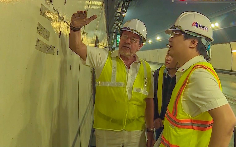 Hơn 300 vết nứt trong hầm Hải Vân 1