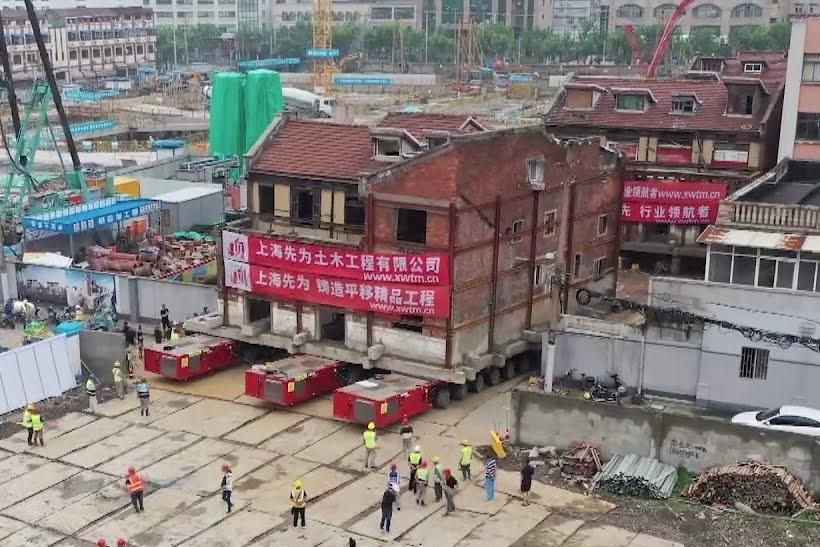 Di dời tổ hợp tòa nhà cổ đi hơn 200 m ở Thượng Hải