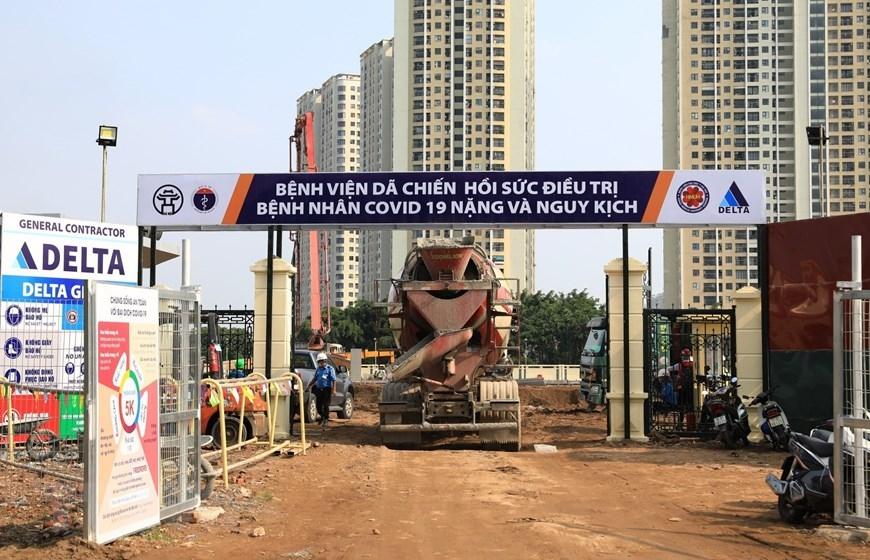 Hà Nội gấp rút hoàn thiện bệnh viện dã chiến 500 giường