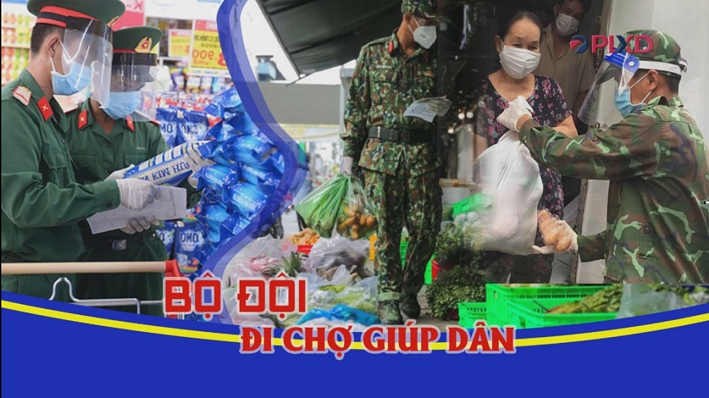 Thành phố Hồ Chí Minh: Chiến sỹ đi chợ giúp dân