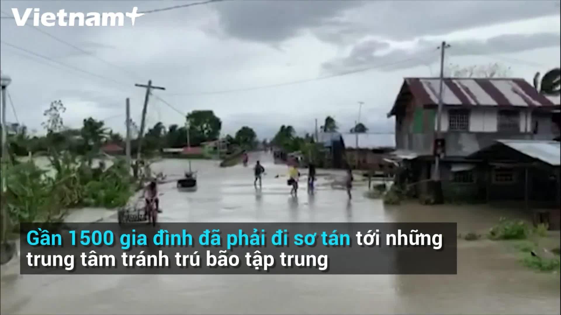 Sức tàn phá khủng khiếp của bão Molave ở Philippines