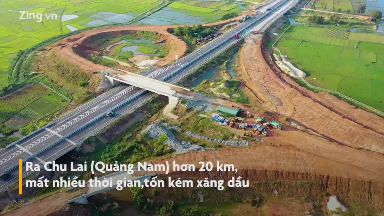 Vì sao vòng xoay Dung Quất chưa nối vào cao tốc 34.500 tỷ?
