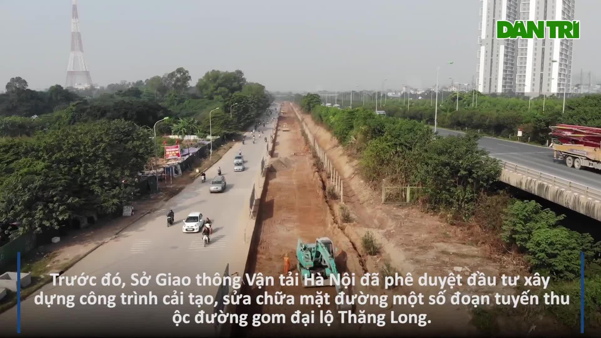 Hà Nội: Tiếp tục xén dải phân cách, mở rộng đường gom Đại lộ Thăng Long