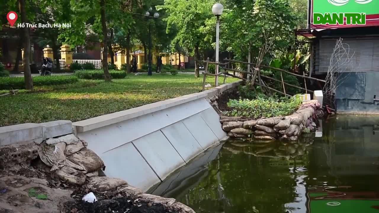 Cận cảnh khối bê tông nặng 2 tấn sẽ thí điểm kè hồ Gươm