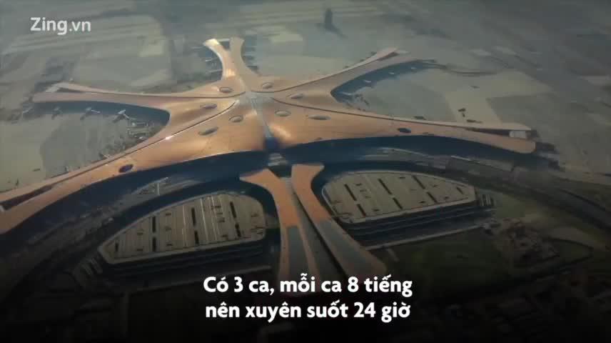 Bên trong siêu sân bay lớn nhất thế giới của Trung Quốc