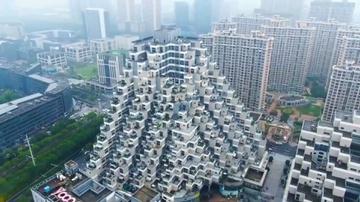 Tòa nhà có thiết kế như kim tự tháp tại Trung Quốc